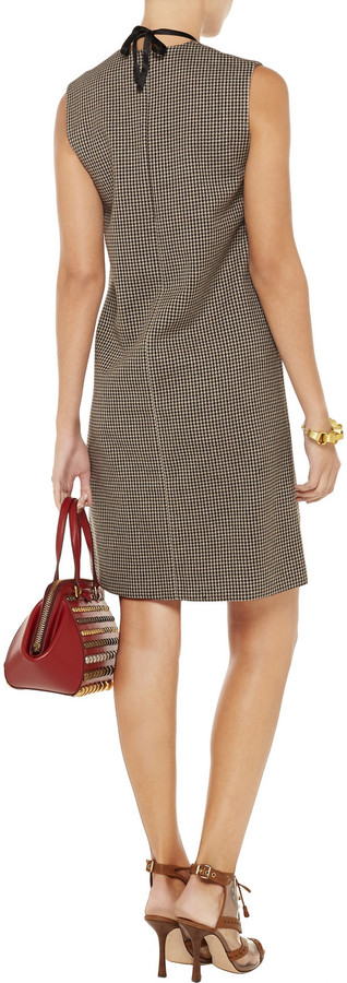 Marni Houndstooth cotton and wool-blend dress
