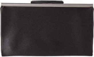La Regale Black Slim Top Frame Briana Clutch