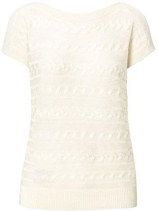 Ralph Lauren Cable Short-Sleeve Sweater $79.50 thestylecure.com