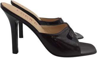 Loewe Patent leather mules