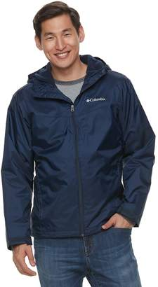 Columbia Big & Tall Weather Drain Colorblock Hooded Sherpa-Lined Jacket