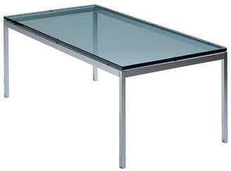 Design Within Reach Florence Knoll Rectangular Coffee Table, Silver Glass at DWR