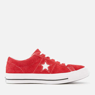 One Star Ox Trainers Red/White
