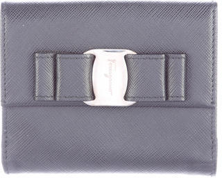Salvatore Ferragamo Salvatore Ferragamo Leather Bow Wallet