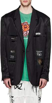 Vetements Men's Satin Oversized Inside-Out Two-Button Sportcoat