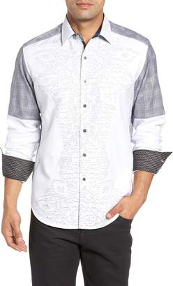 Robert Graham Classic Fit Limited Edition Cutout Sport Shirt