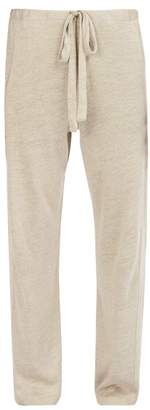 Hecho - Mid Rise Linen Trousers - Mens - Brown