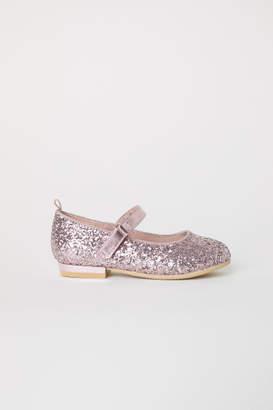 H&M Glittery Ballet Flats - Pink