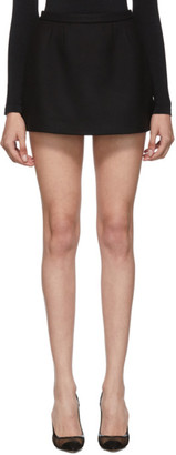 RED Valentino Black Wool Mini Skirt