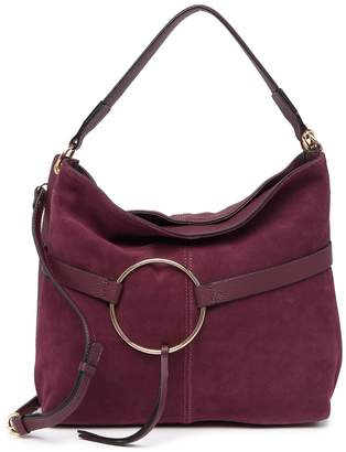 Melrose and Market Ring Suede & Leather Hobo Shoulder Bag