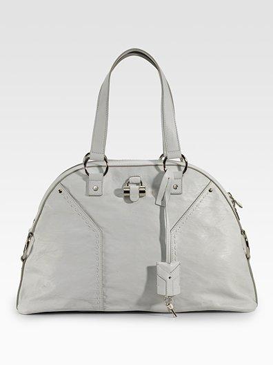 Yves Saint Laurent Large Crinkled Leather Muse Bag