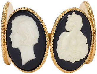 One Kings Lane Vintage 1970s Chanel Cameo Cuff - Vintage Lux