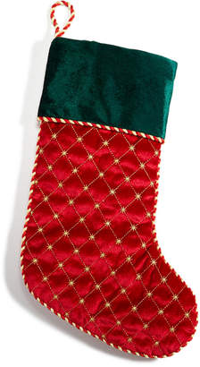 Holiday Lane Red Stocking with Green Cuff, Created for Macy's