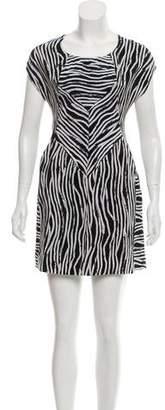 Helmut Lang Striped Silk Dress