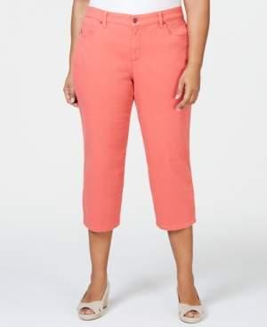 Charter Club Plus Size Tummy Control Capri Pants, Created for Macy's