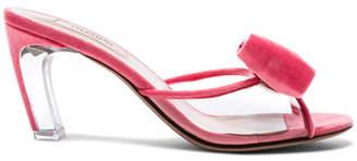 Valentino Velvet Glassglow Removable Bow Mules