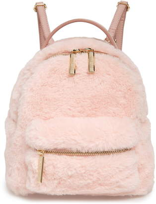 Mali & Lili Gemini Faux Fur & Vegan Leather Convertible Backpack