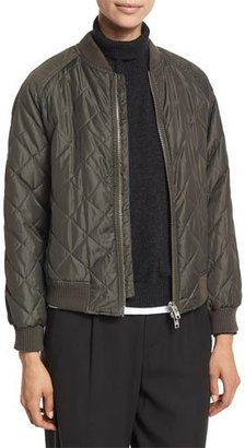 Vince Quilted Bomber Jacket $475 thestylecure.com