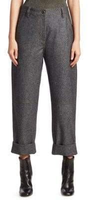 Brunello Cucinelli Relaxed Flannel Wool Jeans