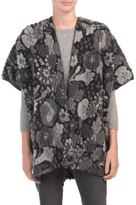 Made In Italy Boiled Wool Blend Kimono