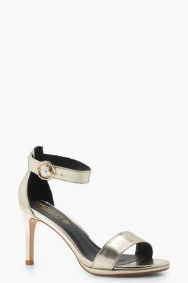 boohoo Julia Low 2 Part Heels