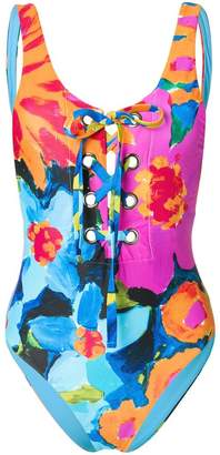 Mara Hoffman lace-up swimsuit