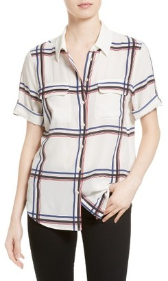 Women's Equipment Slim Signature Silk Shirt $228 thestylecure.com