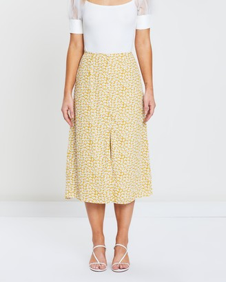 Atmos & Here Midi Button Front Skirt