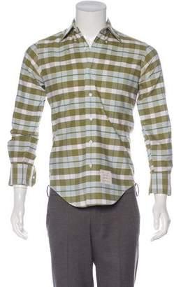 Thom Browne Plaid Woven Shirt