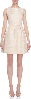 Blugirl Jewel Neck Jacquard Dress