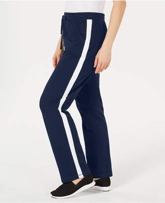 Karen Scott Petite Colorblocked-Side Pants