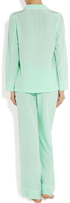 Equipment Avery washed-silk pajama set