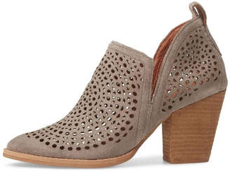 Jeffrey Campbell Taupe Perforated Booties