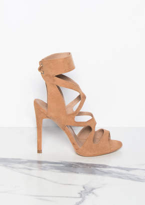 c638f9970f78 Missy Empire Missyempire Audrey Camel Cut Out Suede Lace Up Heels