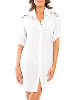 Jets Parallels Shirt Dress