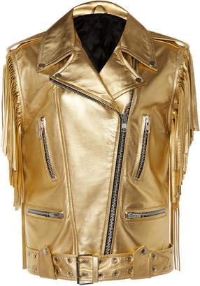 Dundas Gold Leather Jacket