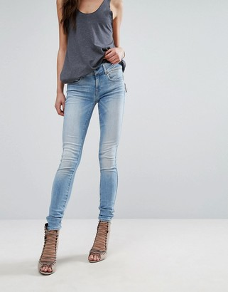 G-Star Midge Cody Mid Rise Skinny Jean with Zip Pocket Detail $182 thestylecure.com