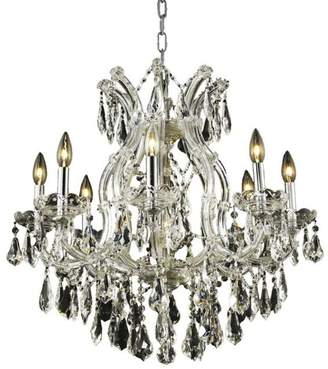 Theresa Elegant Lighting 2801D26C/RC Maria 26-Inch High 9-Light Chandelier, C...