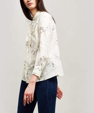 A.P.C. Polly Ruffle Cotton Shirt