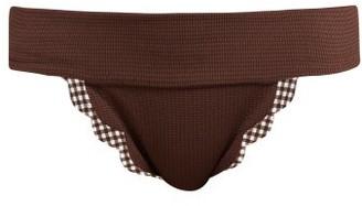 Marysia Swim Santa Clara Scallop Edged Bikini Briefs - Womens - Brown