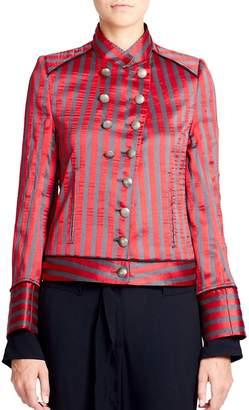 Ann Demeulemeester Women's Striped Military Jacket