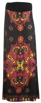 Arden B Knit Border Print Maxi Skirt