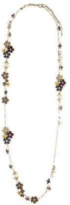 Chanel Faux Pearl & Enamel Flower Bead Necklace