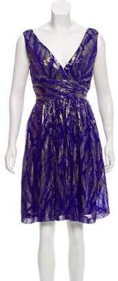 Trina Turk Embellished Silk Dress