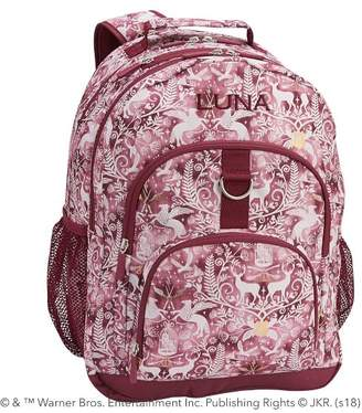 Pottery Barn Teen Gear-Up HARRY POTTER & Magical Damask XL Backpack, Burgundy