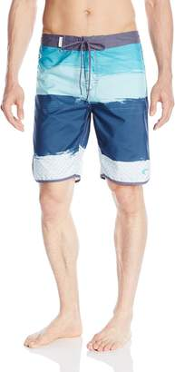 Trunks Teal Cove Men's Dylan Printed Scalloped Short
