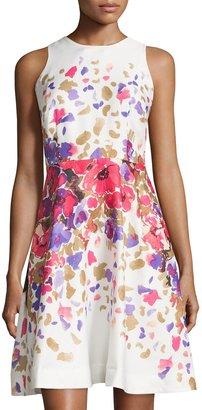 Donna Morgan Sleeveless Floral Print Dress, Raspberry Multi $119 thestylecure.com
