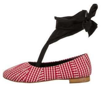 Sylvie Trademark Gingham Ballet Flats w/ Tags Red Trademark Gingham Ballet Flats w/ Tags