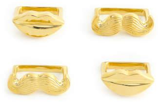 Jonathan Adler Brass Muse Napkin Rings, Set of 4
