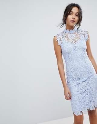 Paper Dolls High Neck Lace Midi Dress